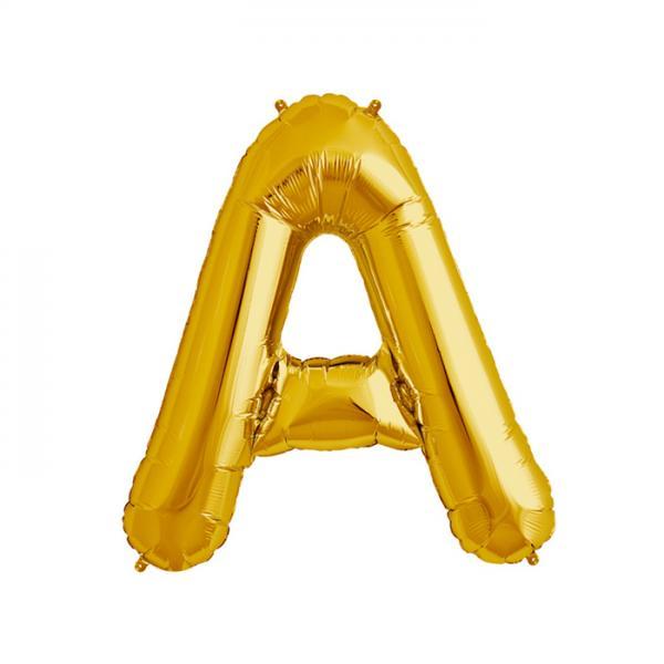 Buchstabe A Folienballon Gold