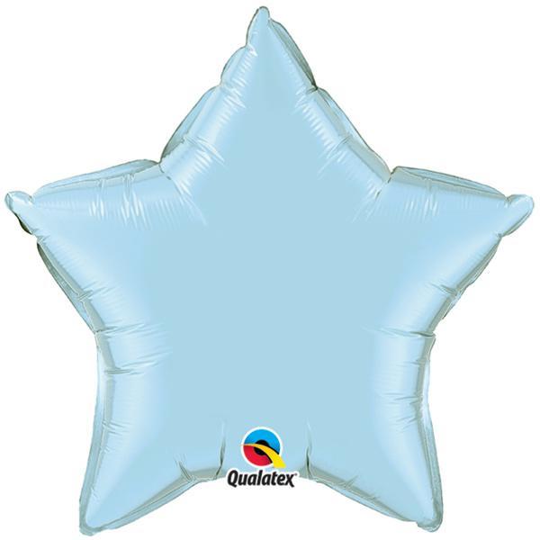 Stern ballon Hellblau