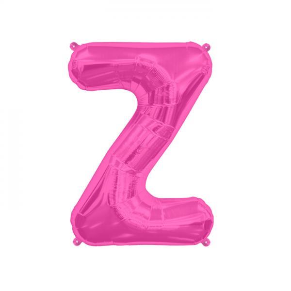 Buchstabe Z Folienballon Pink