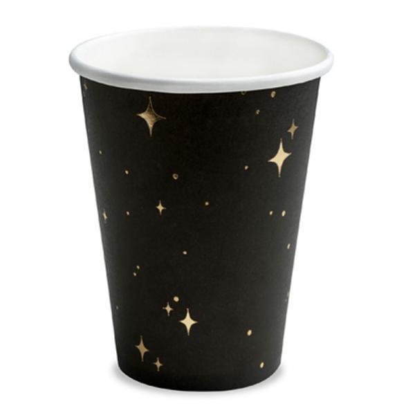 Partybecher Schwarz mit Sternen