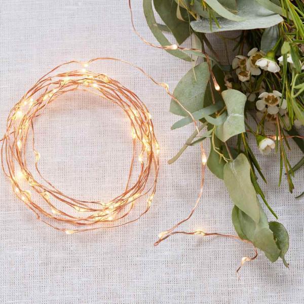 Rosegold Lichterkette