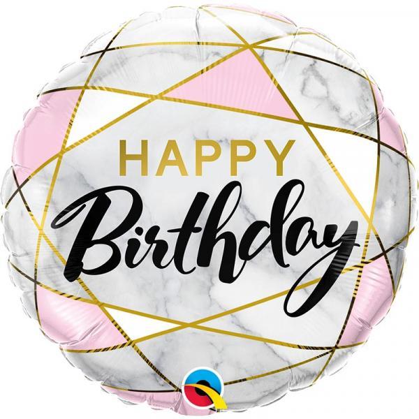 Happy Birthday Marmormuster Folienballon