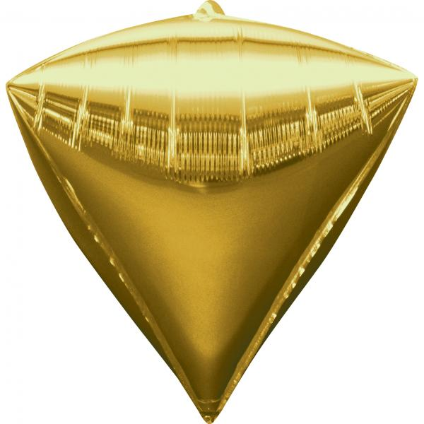 Diamant Folienballon Gold