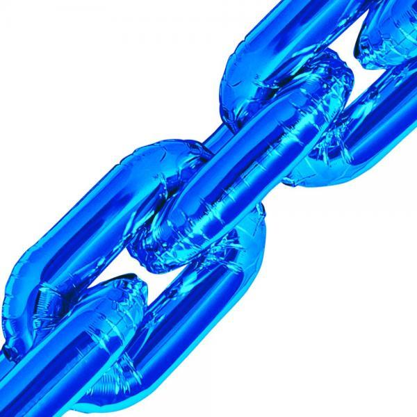 Deco Link Folienballon Blau