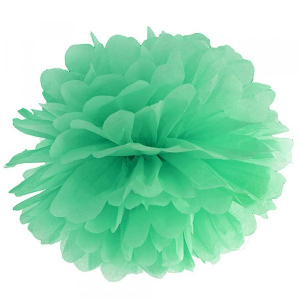 pompom mint grün