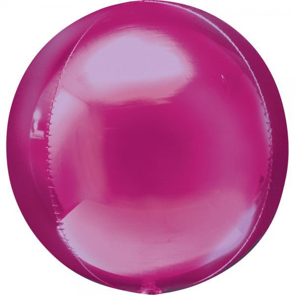 Orbz Kugel Folienballon Pink 40cm