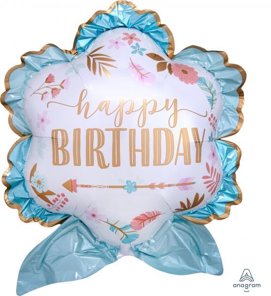 Happy Birthday Boho Ballon