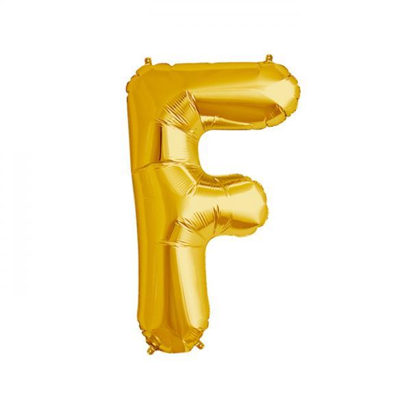 Buchstabe F Folienballon Gold