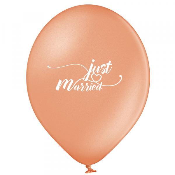 Luftballon Just Married Rosegold