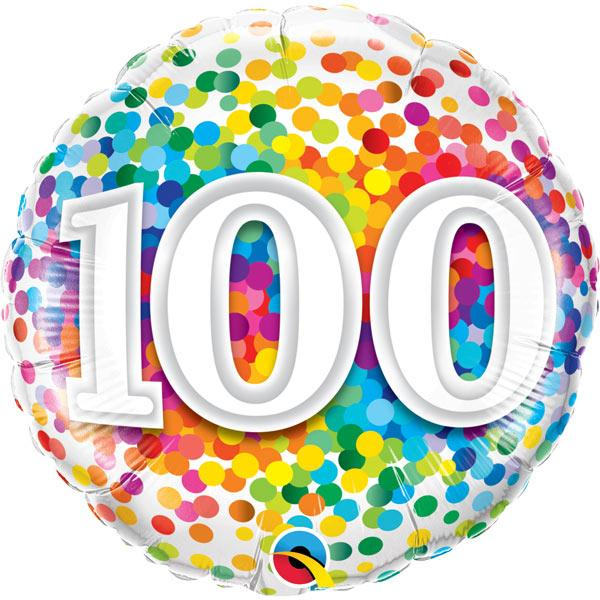 Zahl 100 Konfettimuster