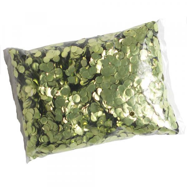 Konfetti grün Metallic 500g rund