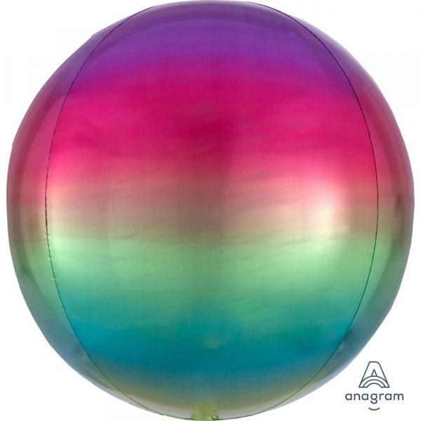 Orbz Kugel Folienballon Regenbogen Verlauf 45cm