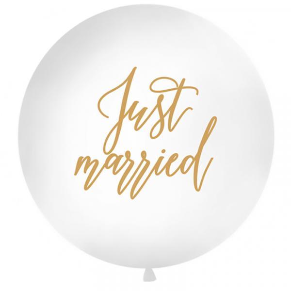 Riesenballon Just Married