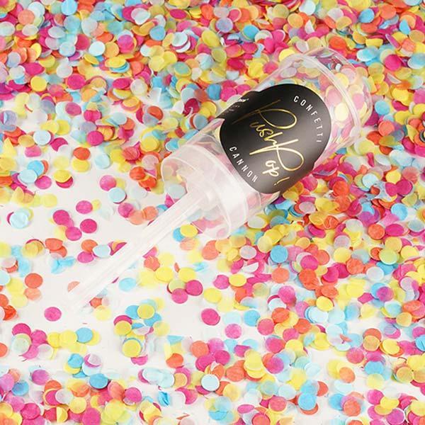 konfettipopper buntes konfetti