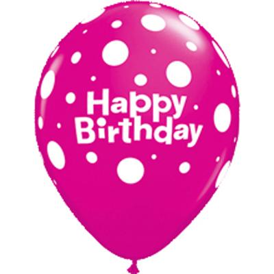Happy Birthday Polka Dot bedruckter Ballon