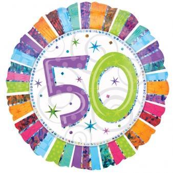 Radiant Birthday Happy Birthday 50. Geburtstag Folienballon