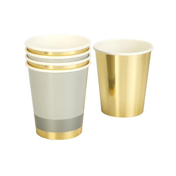 Gold Glitzer Pappbecher