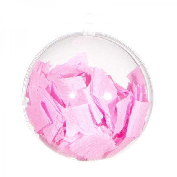 Ballongewicht / Geschenkkugel Konfetti rosa