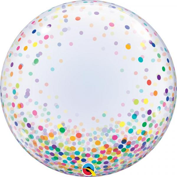 Konfetti Muster Bubble Ballon