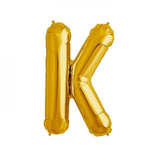 Buchstabe K Folienballon Gold