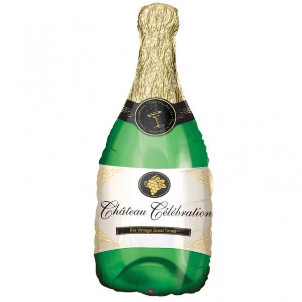 Champagner Flasche Folienballon