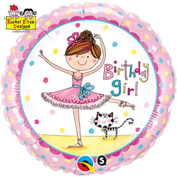 Birthday Girl Ballerina Folienballon