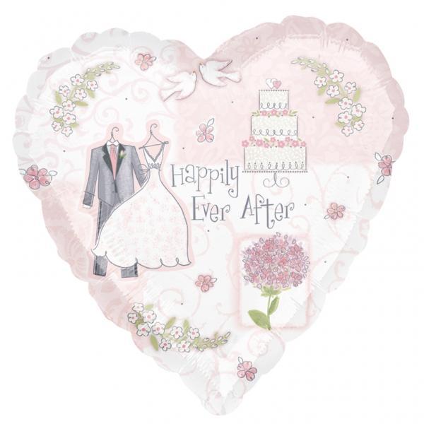 Sweet Romance Herz Folienballon