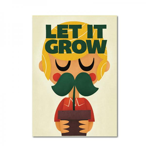 Postkarte Pintachan Let it grow