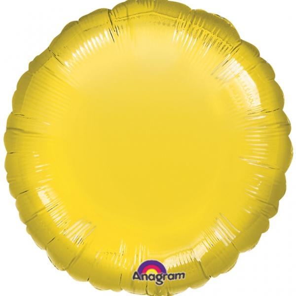 Folienballon Rund Gelb