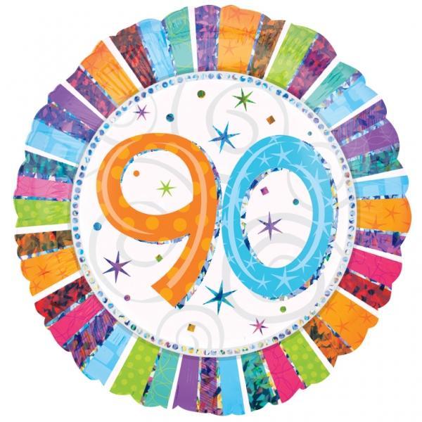 Radiant Birthday Happy Birthday 90. Geburtstag Folienballon
