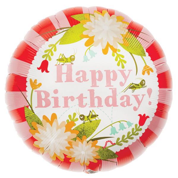 Geburtstag Blumen Ballon
