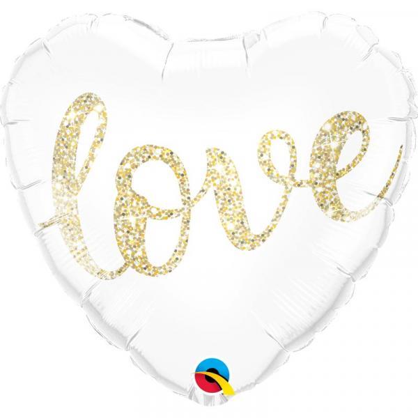 Love Glitzer Herzballon