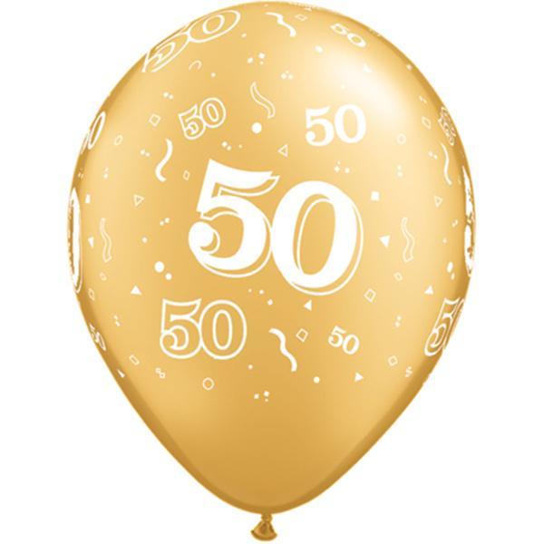 Zahl 50 bedruckter Ballon