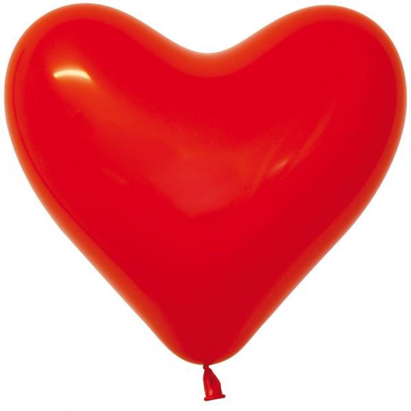 Herzluftballon Latex Rot 35cm