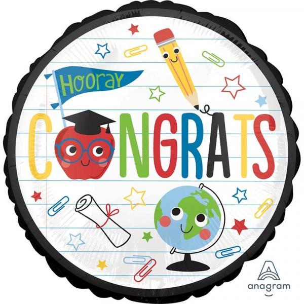Schulabschluss Congrats Folienballon