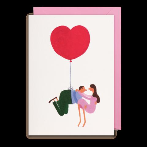 Grußkarte Flying Heart
