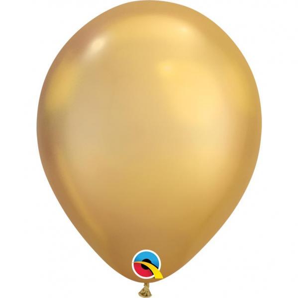 Chrome Metallic Luftballon Gold