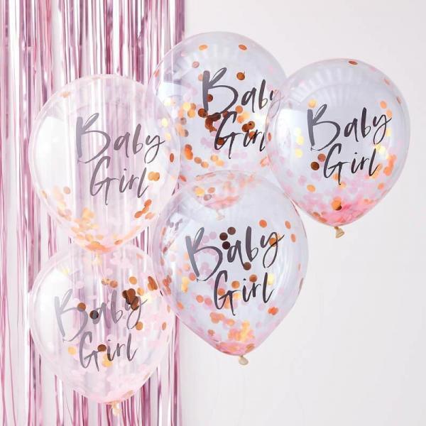 BAby Girl Konfetti Ballons