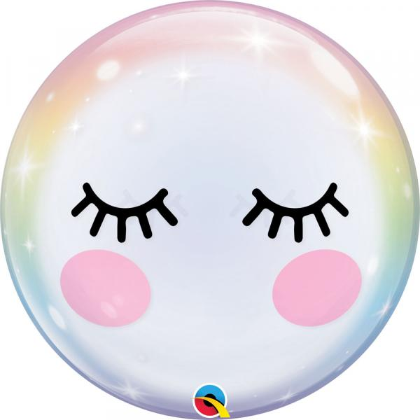 Einhorn Wimpern Bubble Ballon