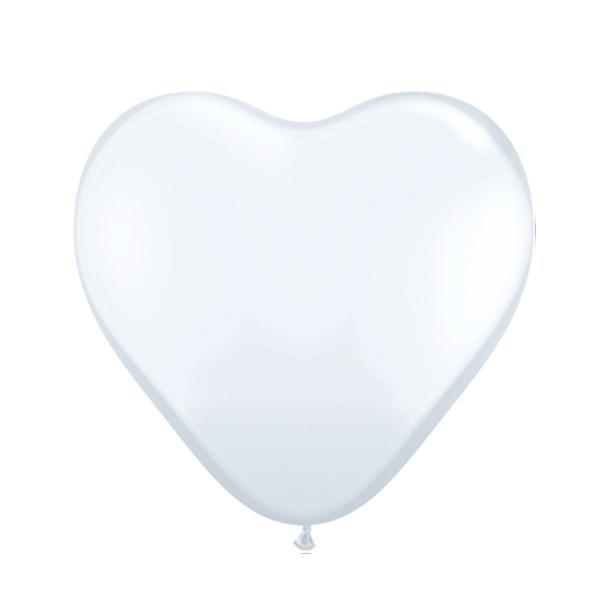 Mini Herzballon Weiß