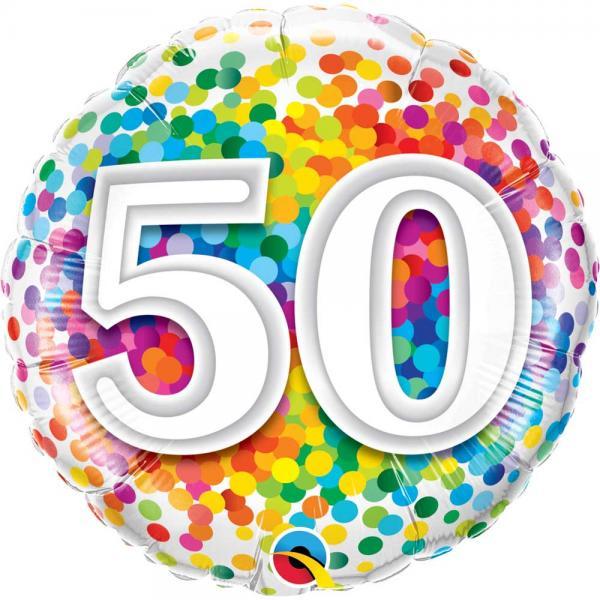 Zahl 50 Ballon