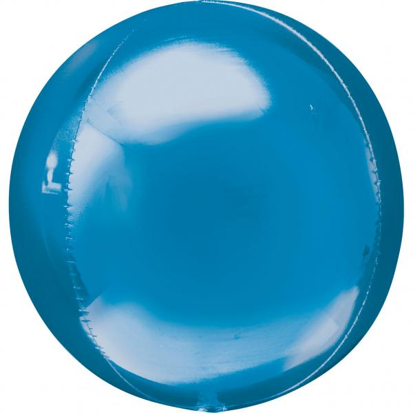 Orbz Kugel Folienballon Blau 40cm