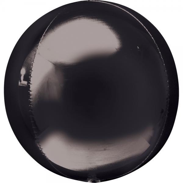 Orbz Kugel Folienballon Schwarz 40cm