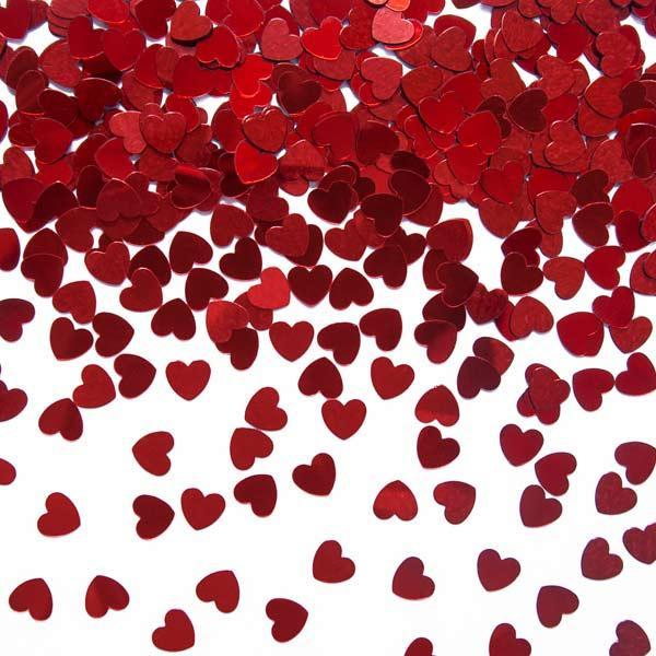 Konfetti Herzen rot 30g