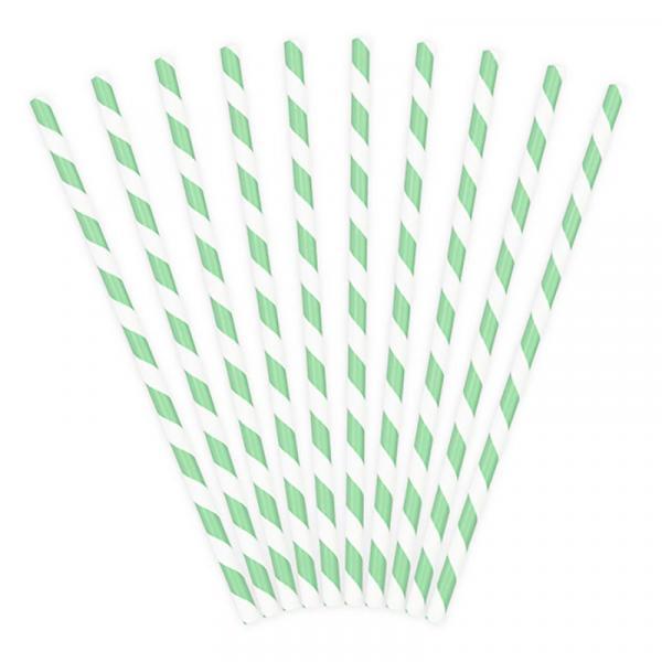 Papierstrohhalme Mint Pastell
