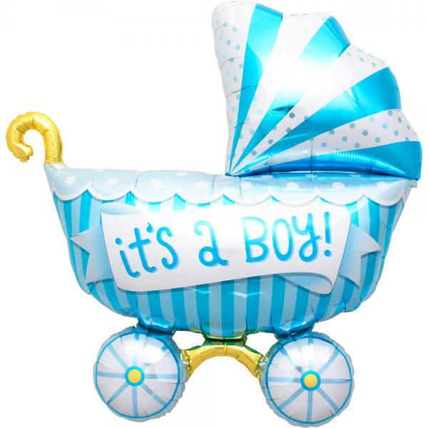 Its a Boy Kinderwagen Ballon