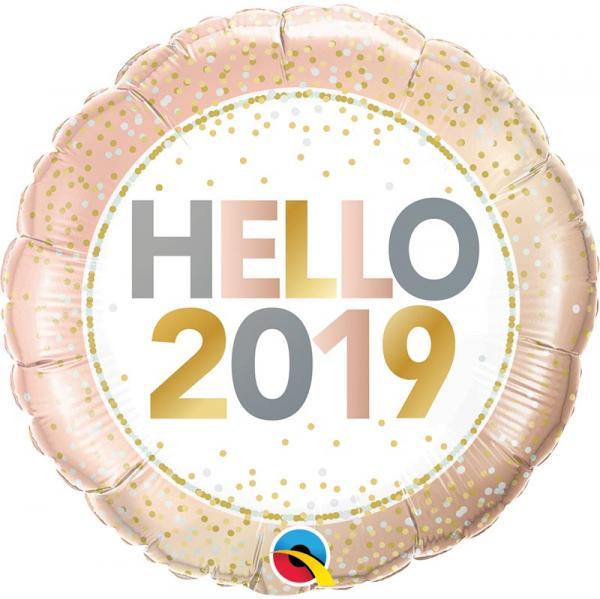 HELLO 2019 SILVESTER BALLON