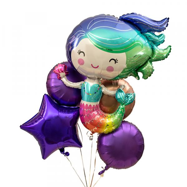 Ballonbox 5er Meerjungfrau