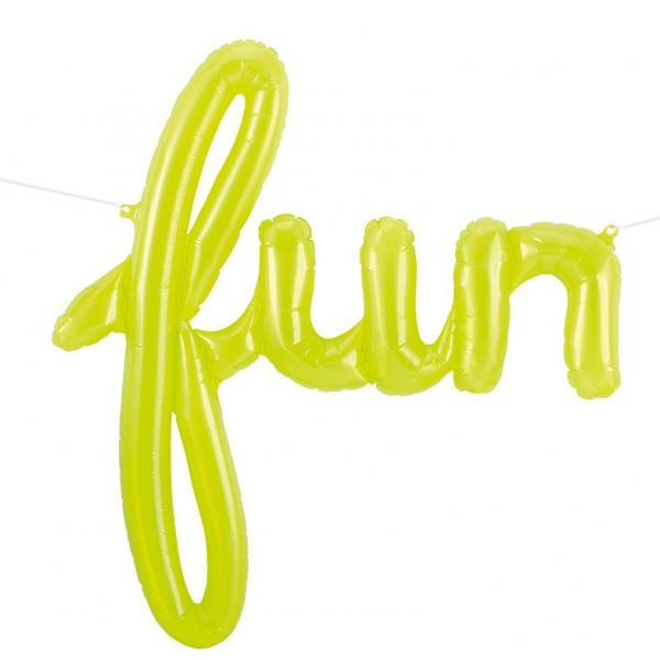 FUN Schriftzug Ballon grün