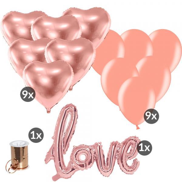 Ballonset Heiratsantrag Rosegold